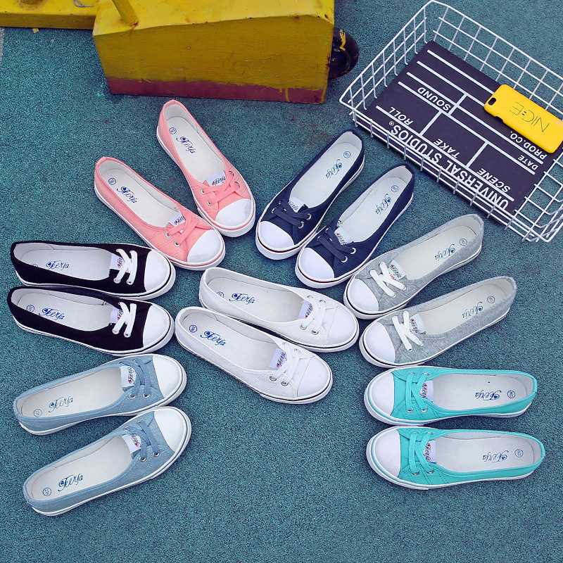 BORRUICE Women Canvas Shoes Lace Up Casual Shoes Woman Flats Breathable Fashion Brand Off Women Shoes Sneakers White Shoes lakeshi women canvas shoes women casual shoes summer comfortable lace up women flat shoes fashion sneakers white shoes female