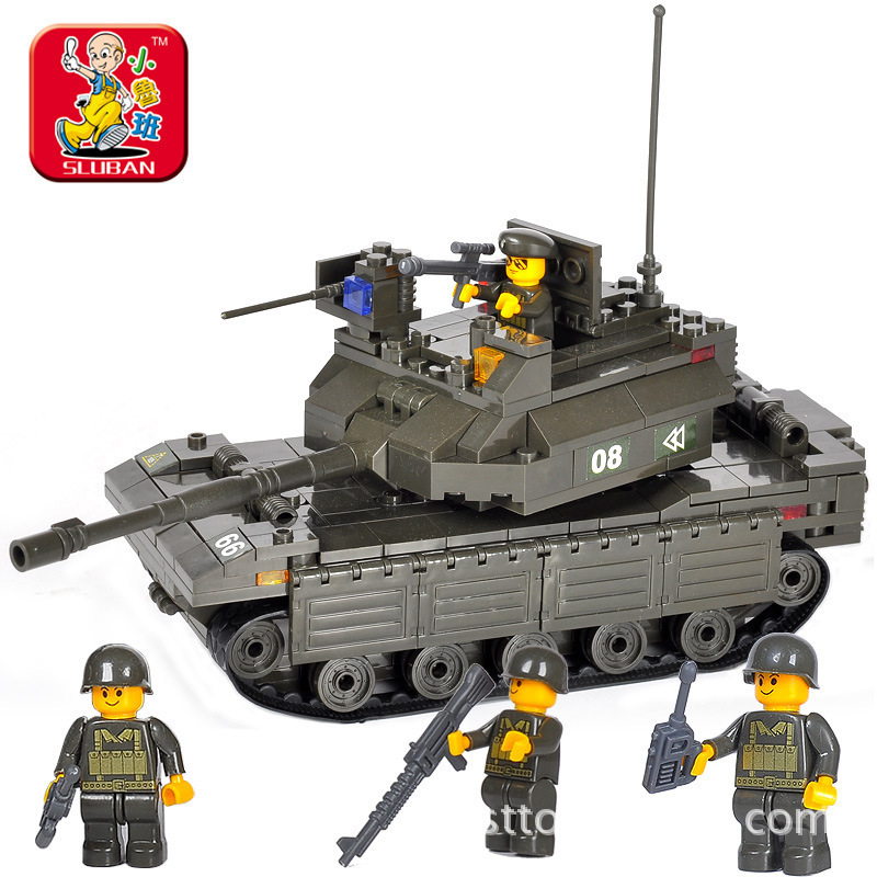 Model building kit compatible with font b lego b font military Main Battle Tank 3D blocks