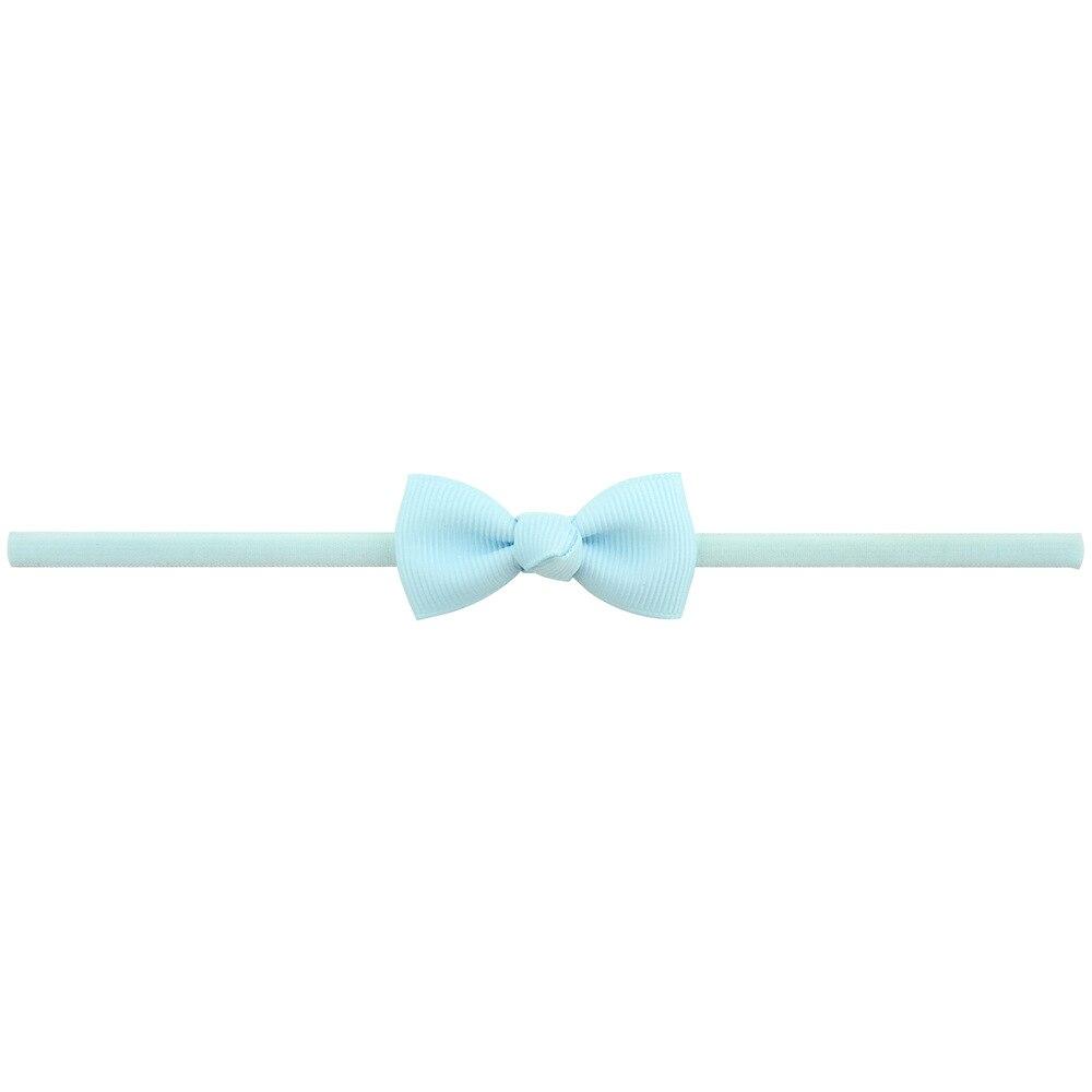 Повязка на голову для маленьких девочек; аксессуары для волос для младенцев; тканевый галстук с бантом; головной убор; Тиара; подарок для малышей; повязка на голову с лентой для новорожденных - Цвет: 17