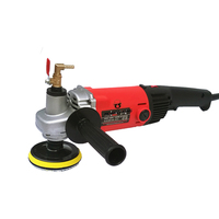 4 Electric Stone Wet Polisher Variable Speed Hand Grinder 220v 1400W With 8 Units 4 Wet