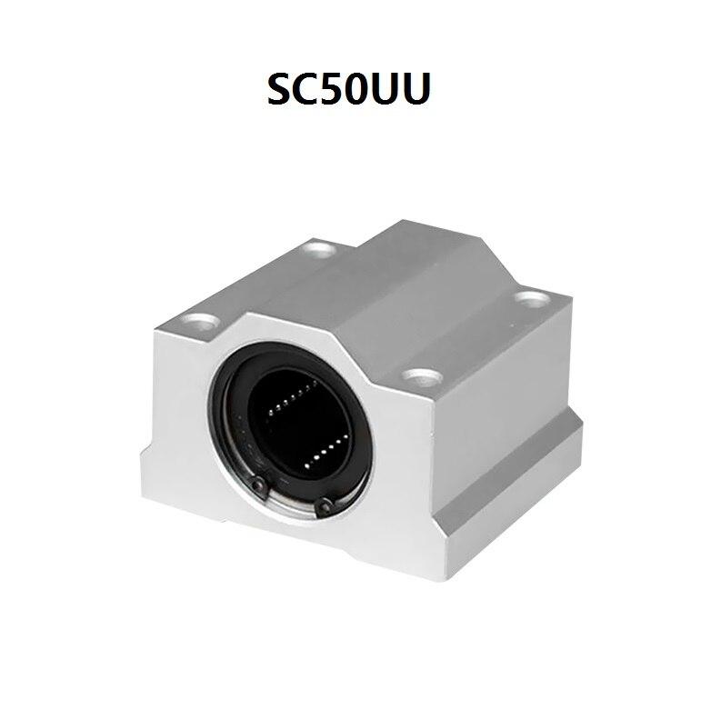 4pcs/lot SC50UU/SMA50UU SCS50UU 50mm linear rail shaft bearing blocks for CNC router router