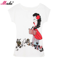 2017 Top Selling Woman Clothes Tees Spring Summer Cotton Short Sleeve O Neck Fashion Cat Printed