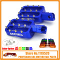 Billet CNC Foot Pegs Pedals Rests For KLX 110 PW50  PW80 TT-R50E TT-R90E  XR50 CRF50 XR70 CRF70 PIT DIRT BIKES  Blue