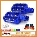 Billet CNC Pé Pegs Pedais Repousa Para KLX 110 PW50 PW80 TT-R50E TT-R90E XR50 CRF50 XR70 CRF70 PIT DIRT BIKES azul