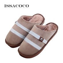 ISSACOCO Mens Shoes Slippers Pantuflas Terlik Men Winter Cotton Large Size Home Zapatillas