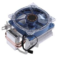 DC 12 V 95 W 3 Pin CPU Cooler Radiador Tubo de Calor de Cobre Doble de Latón Torre Ventilador de Refrigeración Del Sistema para Intel AMD