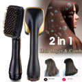 Hair Blow Dryer Brush 2 IN 1 Multi-functional Hair Straightener Styles Electric Hair Comb Negative Ion Care Salon Hair Styler