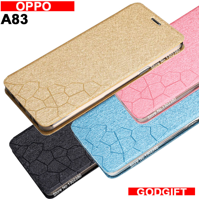 Oppo A83 case cover leather luxury water cube pu flip case For Oppo A 83 cover case 4 style A83 OPPO case