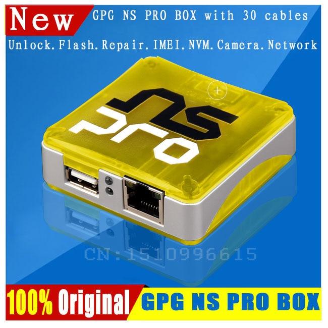 bilder für 2017 gpg neueste 100% original ns pro box/nspro für samsung handys entriegeln und repari & flash & imei, mit 30 kabel