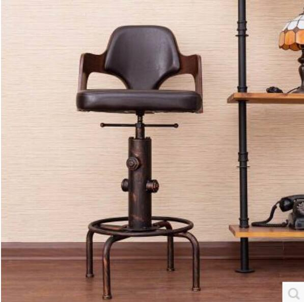 high quality european wrought iron wood lift rotating bar stoolchina - Wrought Iron Bar Stools