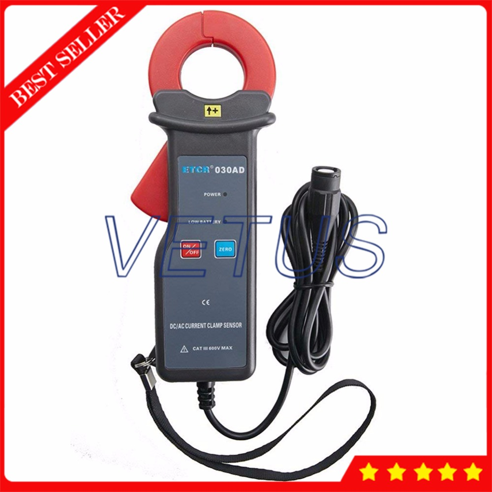 ETCR030AD 0mA~60.0A AC DC Leakage Current Tester Clamp Sensor with Non-Contact Measurement
