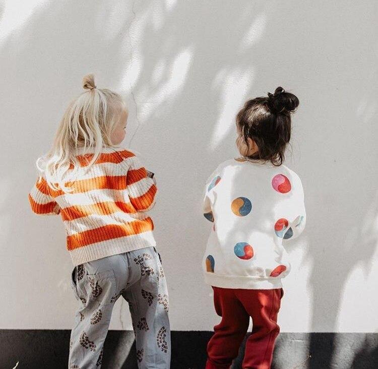 Bobo Choses Autumn Winter Kids Clothes Long Sleeve T-shirt Cartoon Animal Boys Sweatshirts Baby Girls Sports Tees Tops #4