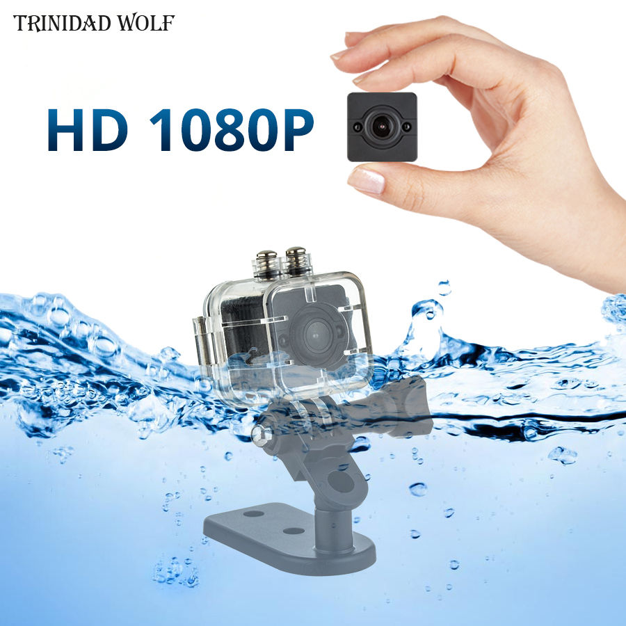 LA LOUP SQ12 Mini Caméra HD 1080 p Étanche Voiture DVR Mini Caméscope de Vision Nocturne Intérieur/Extérieur Petit Micro caméra PK sq11