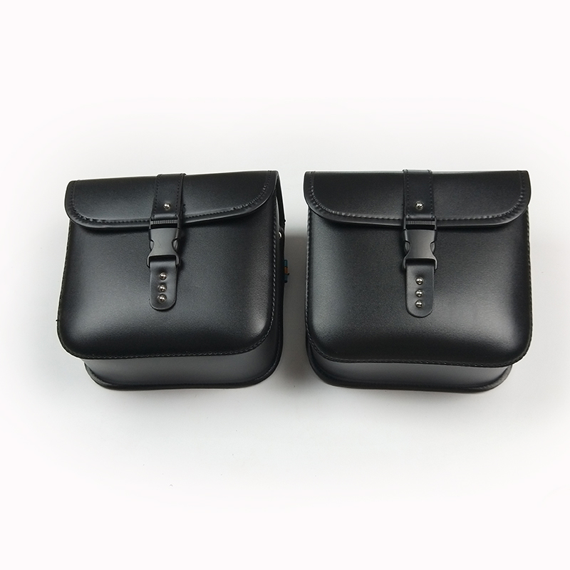 2019 Motorcycle Motorbike Saddlebags Saddle Bags Luggage Tool Bag PU Leather Bag for Harley Sportster Dyna For BMW R1200gs moto (11)