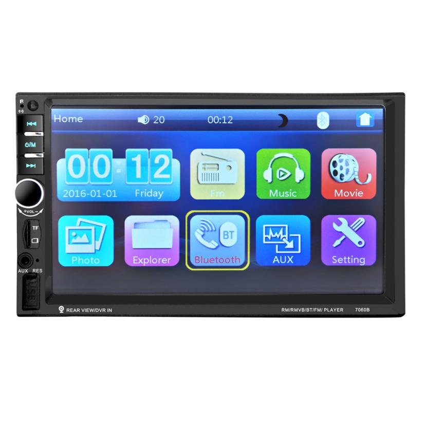 Auto Radio 7'' HD Bluetooth Touch Screen Car Stereo radio 2 DIN FM/MP5/MP3/USB/AUX  jul5 7021g 2 din car multimedia player with gps navigation 7 hd bluetooth stereo radio fm mp3 mp5 usb touch screen auto electronics