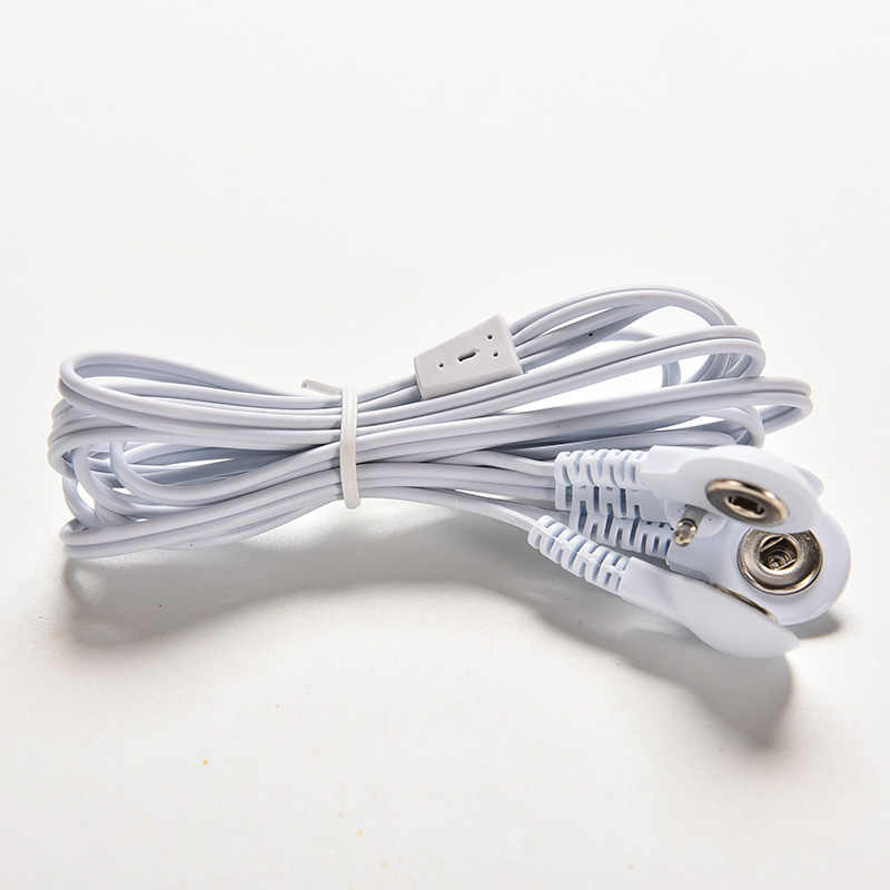 4 ボタン中括弧は、電極リード線接続ケーブルデジタル十療法機械マッサージャー電極ワイヤープラグ