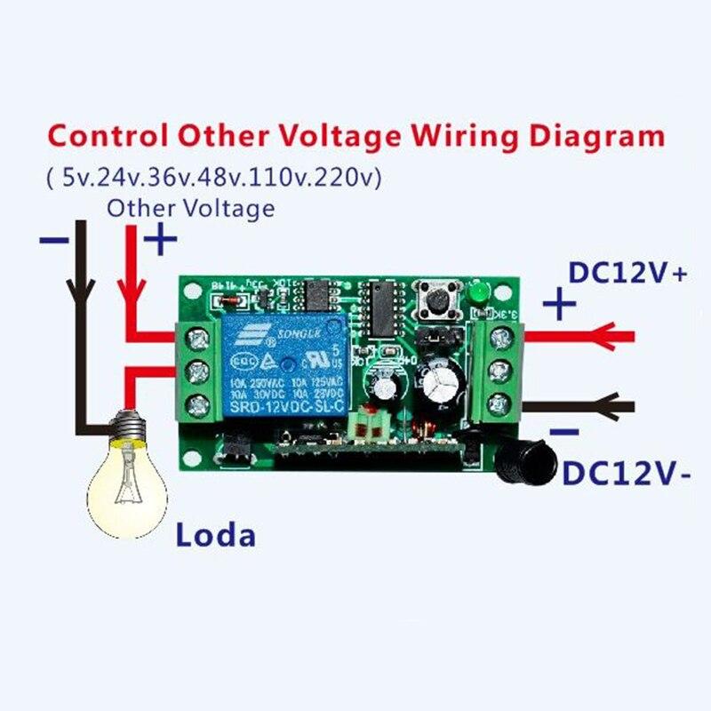 DC12V 1CH 10A Беспроводной Выключатель питания системы teleswitch 18 приемник и 2 передатчика пульт дистанционного управления 10A выходное состояние регулируется - 5