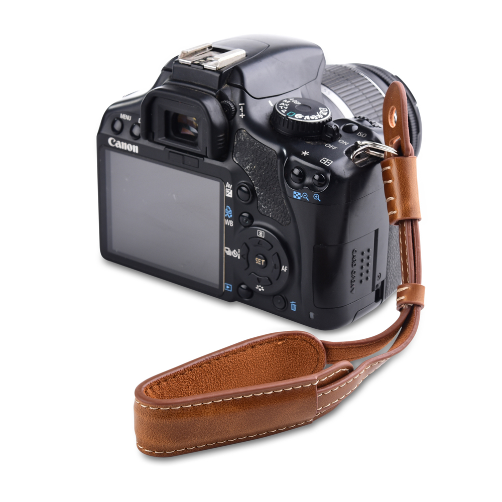 Camera Leather Hand Strap Grip Metal Ring Wrist Strap For Nikon Z7 D7200 D7100 D5300 D5200 D5100 D3400 D3300 D850 D810 L830 D750