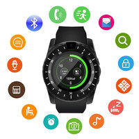 V8S Unlocked Bluetooth Smart Watch Unlocked FitnessTracker with SIM Card Watch for Android Samsung Huawei LG Xiaomi Sony IOS