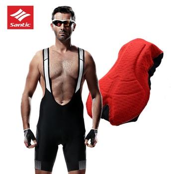 2018 SANTIC Bicycle Bib Shorts Men 4D Padded Breathable Quick Dry Bib Shorts MTB Mesh Cycling Outdoor Base Layer Maillot Bibs