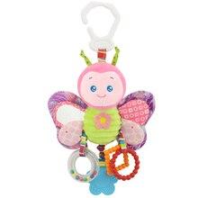 Счастливый обезьяна Детская кровать колокольчик Новорожденные детские игрушки с BB колокольчик плюшевые игрушки для детской кровати Висячие колокольчики мультфильм животных WJ459