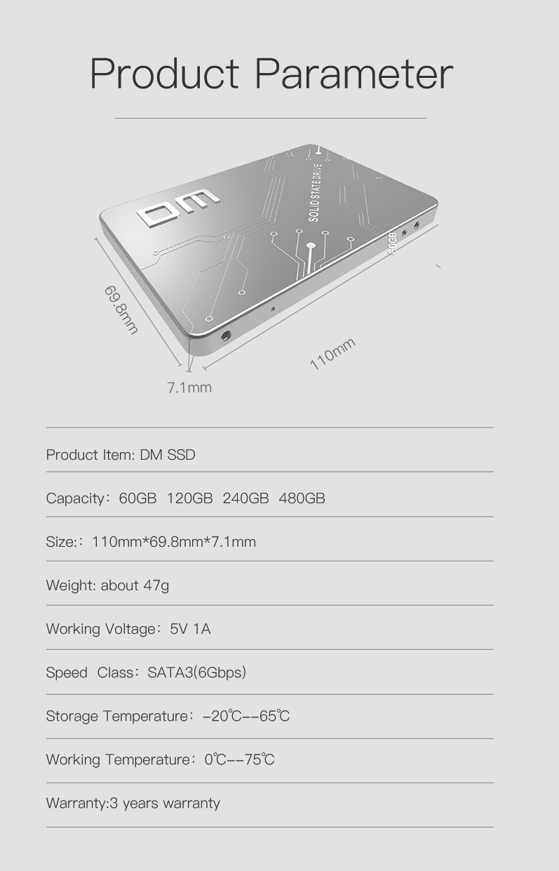 SSD Specification