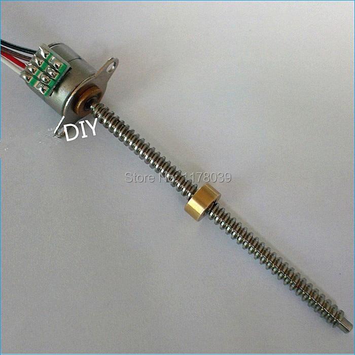 2 Phase 4 Wire Micro Stepper Motor Small Screw Stepper