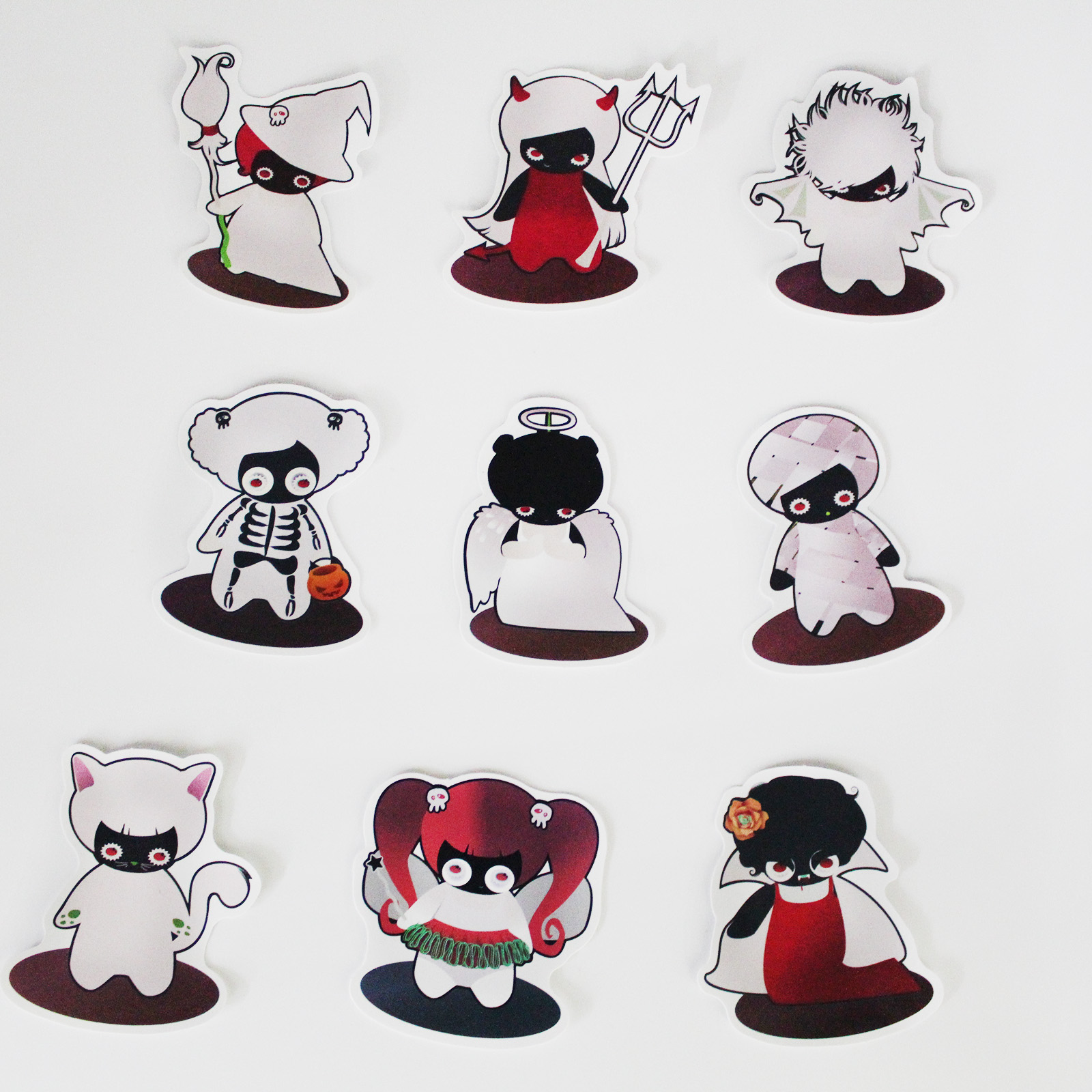 Stickers Mix Style Funny ghost Cartoon Decal Fridge Doodle