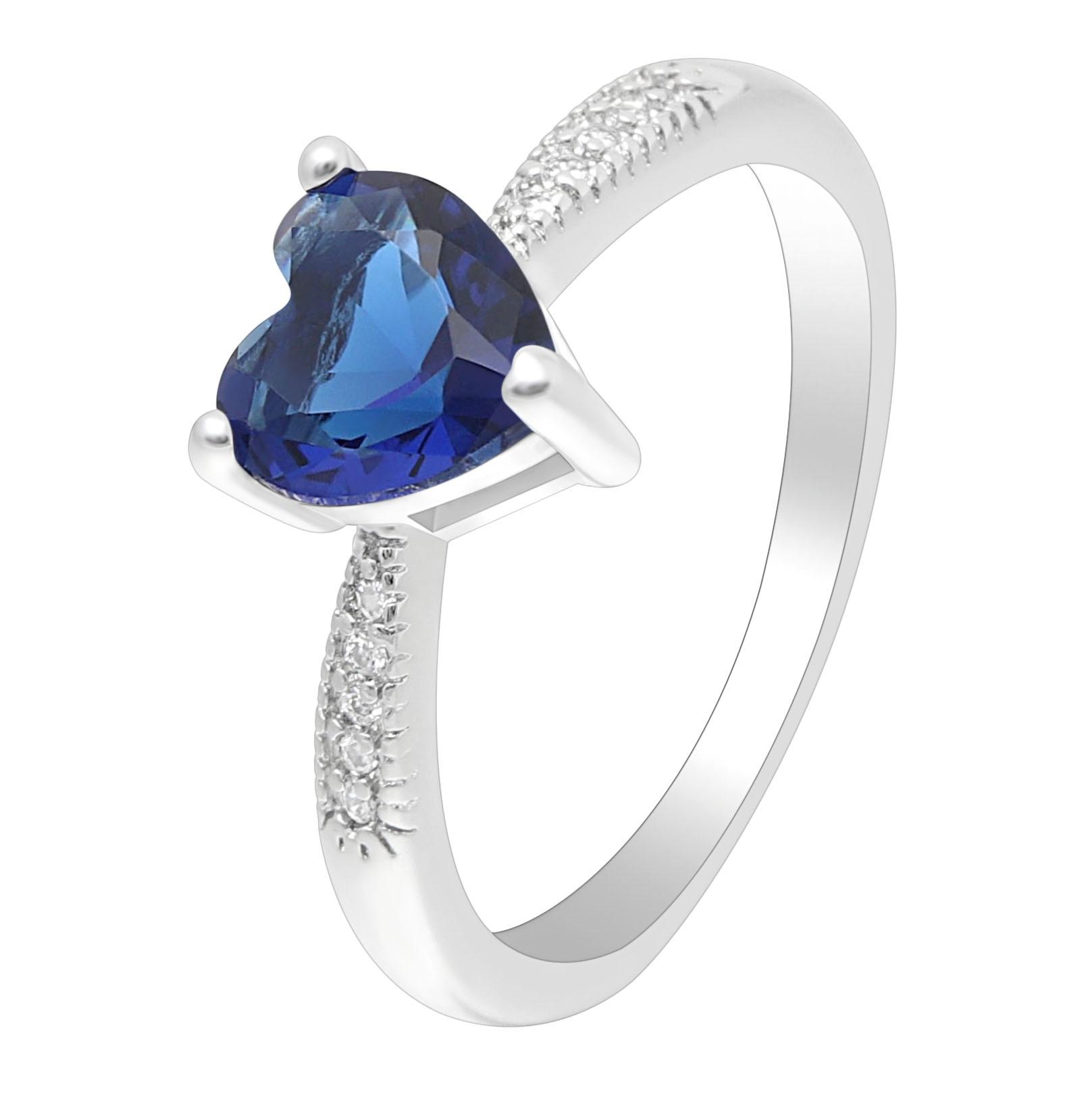 Hainon модные женские туфли свадебные Обручение серебряные украшения заполненный цвет голубой циркон Обещание Кольца Очаровательная кольцо ... ...
