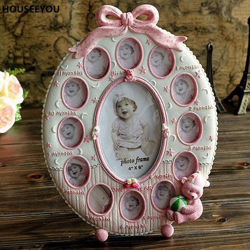 Online Shop Retro Decoration Crafts Photo Frame Creative Resin Bird