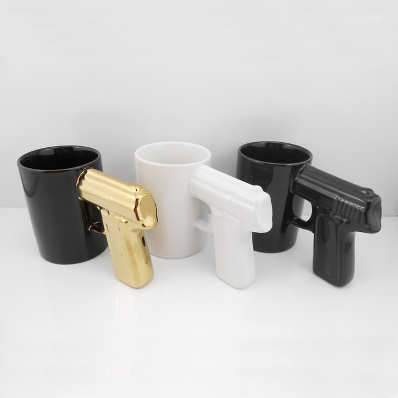 New Design Ceramic Handle Coffee Mug Glassware Drinkware Pistol Handle Mugs J2Y