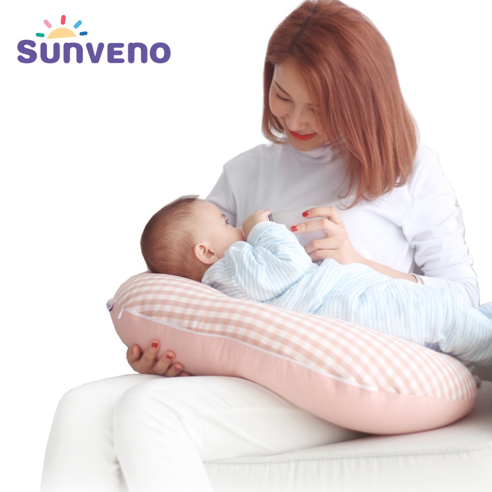 Sunveno Cotton Breastfeeding Pillow Multifunction Detachable Nursing Baby Pillow High Quality Mother`s Good Helper