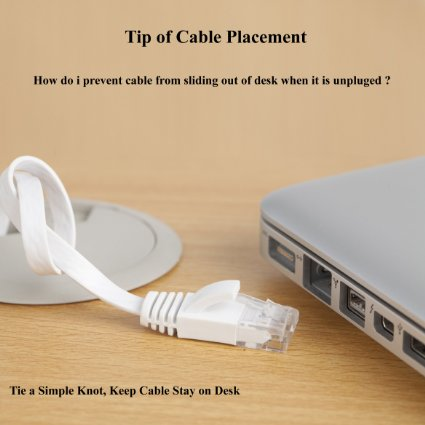1.5M 5FT Pure copper wire CAT6 Flat UTP Ethernet Network Cable RJ45 Patch LAN cable black white color