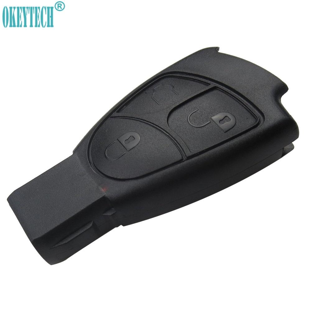 OkeyTech Remote Car Key Case For Mercedes Benz MB C E ML S SL SLK CLK AMG Soft 3 Button Smart Key Car Styling Keyless Entry Fob