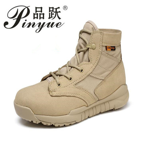 The high quality Ultralight Men Army Boots Military Shoes Combat Tactical Ankle Boots For Men Desert/Jungle Boots Outdoor Shoes цена