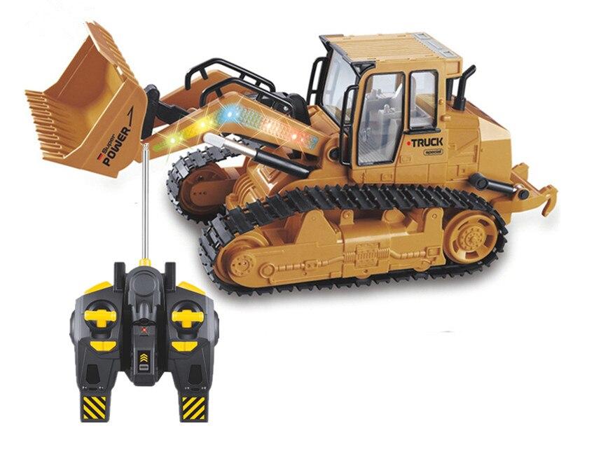 6CH RC Camion Électronique Jouets Bulldozer Caterpillar Tracteur Construction Télécommande Simulation Véhicule Jeu Passe-Temps