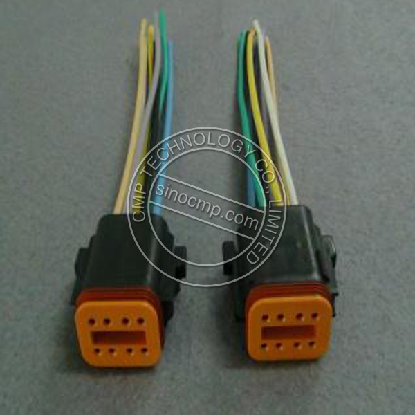 E320c Excavator Drive Panel Connector plug wire harness with 8 holes