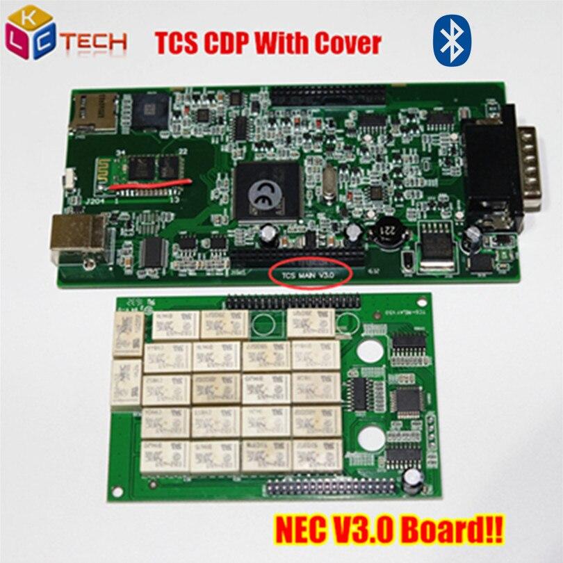 Prix pour 2017 Meilleur NEC V3.0 Conseil TCS CDP pro Bluetooth Nouveau VCI 2014. R2/2015R1 Livraison Active Auto OBD2 Outil D'analyse De Diagnostic Pour voitures/Camions