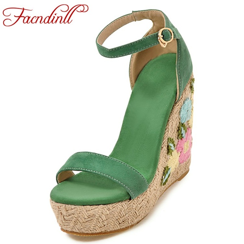 FACNDINLL women summer sandals shoes high qulaity wedges high heels platform shoes woman dress party gladiator sandals shoes facndinll new women summer sandals 2018 ladies summer wedges high heel fashion casual leather sandals platform date party shoes