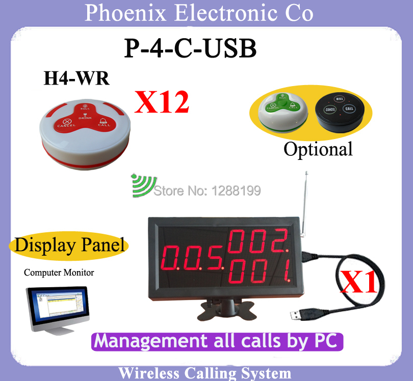 все цены на  Waiter Call Systems To Call The Waiter With Wireless Bell And Menu Display,1pcs of Receiver match with PC and 12pcs of Bells  в интернете
