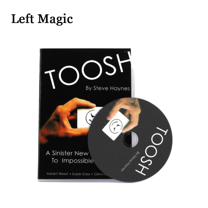 Toosh By Steve H-Card  (Gimmicks+DVD)  Magic Tricks Props Stage Street Comedy Mentalism Magic Close Up Magic Accessories