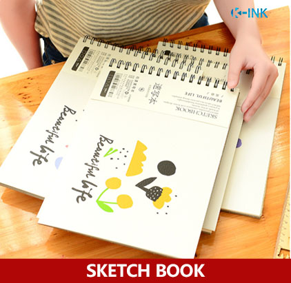 A4 Beautiful Life Floral Sketch Book , Flower Sketchbook for drawing