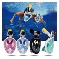 For Gopro hero 6 Diving Scuba Mask Underwater Scuba Full Face Snorkeling Swim Set Go pro hero 7 5 Xiomi yi 4K Action Camera Mask