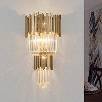 LED Crystal Wall Lamp Bedside Wall Sconces Lustre Modern Light Fixture Luminous Lighting indoor Wall Decoration mirror light