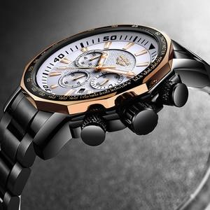 Image 4 - LIGE Mens Watches Top Brand Luxury Fashion Quartz Clock Mens Waterproof Big Dial Watch Men Military Sport Watch Erkek Kol Saati