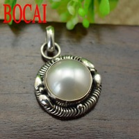 925 Sterling Silver Natural Pearl Pendant