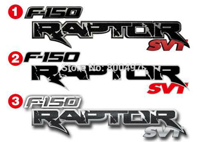 Newest Car Styling Decal Decoration Stickers for Ford F-150 SVT Raptor