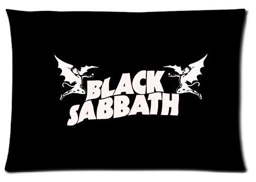 Rechteck Reißverschluss Klassische Nizza Besten Kunden Black Sabbath Kopfkissenbezug Mode beidseitigen Glänzend...