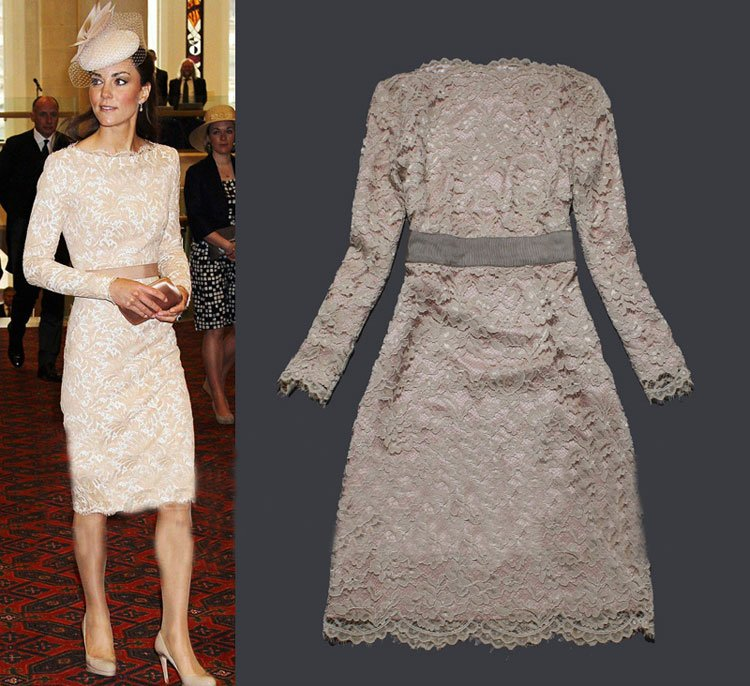 437598176f12f Europe Celebrity Fashion Women Elegant Lace Dress SS12333 Ladies  Long  Sleeve Vintage Slim Dresses