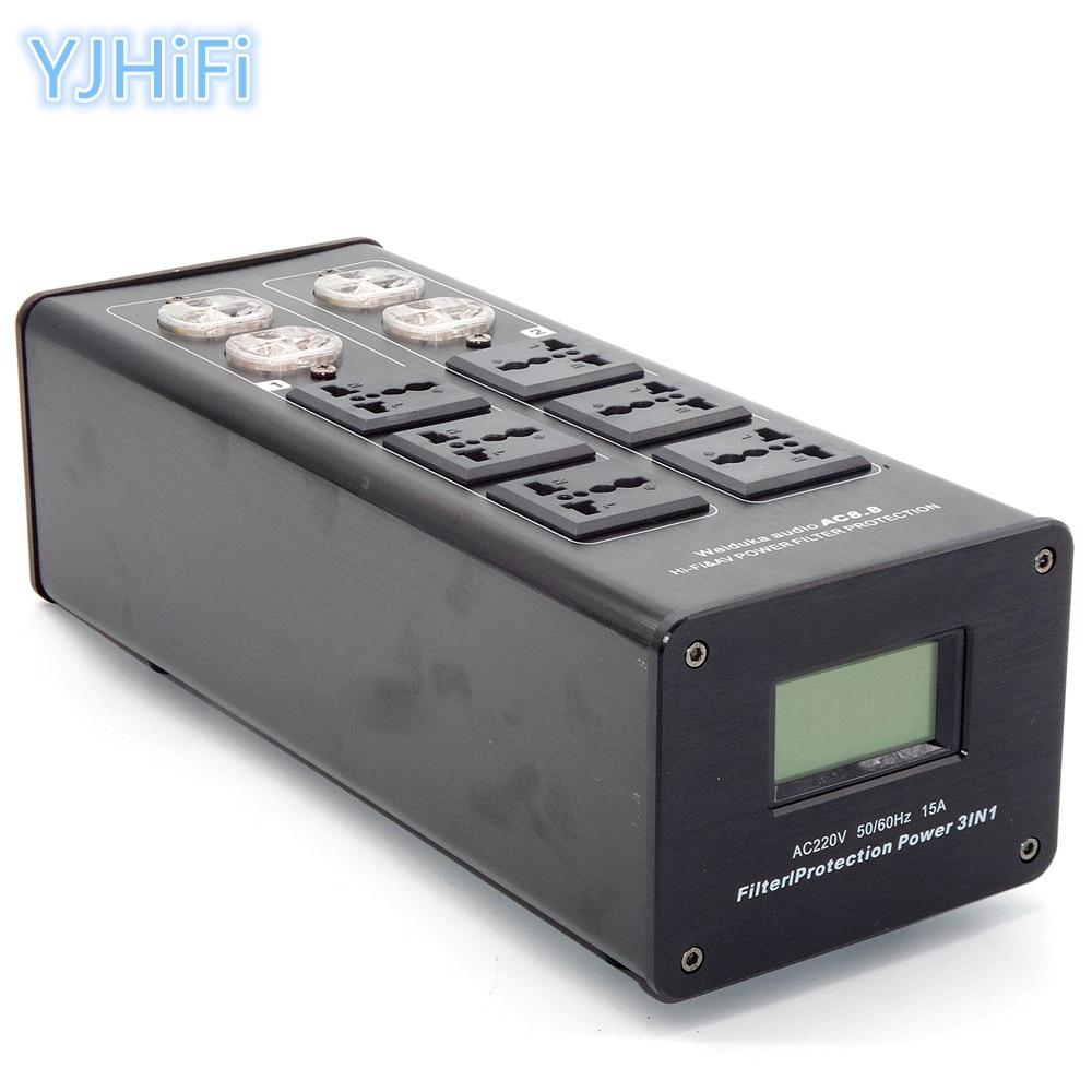 Weiduka AC8.8 3000W 15A AC Power Socket Advanced Audio Power Purifier Filter Extension Socket